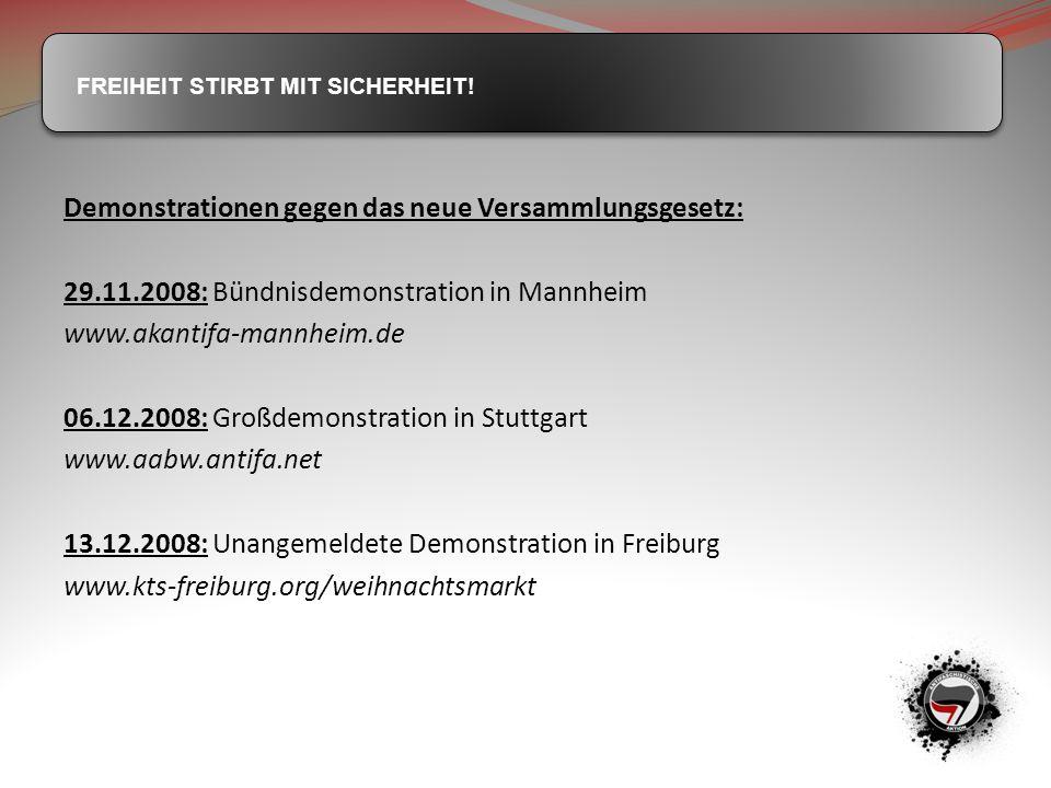 Demonstrationen gegen das neue Versammlungsgesetz: 29. 11