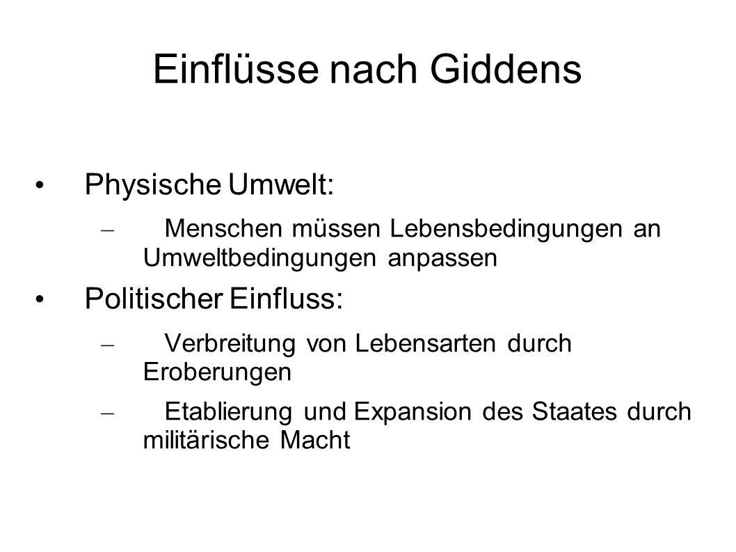 Einflüsse nach Giddens