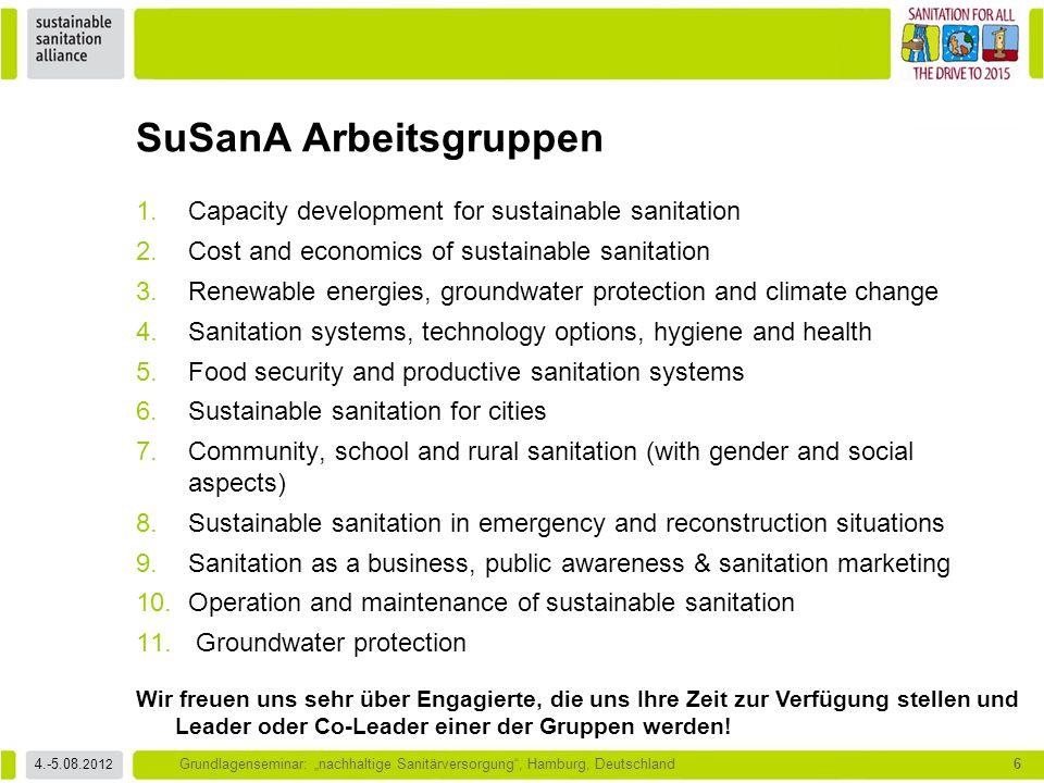 SuSanA Arbeitsgruppen