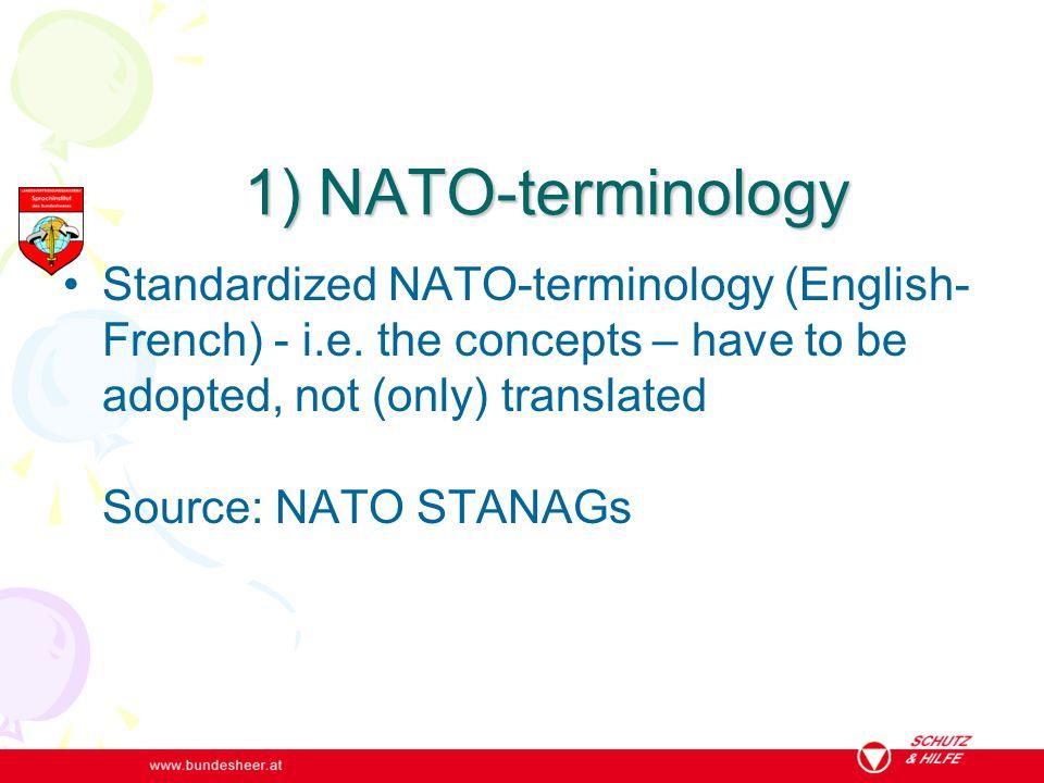 1) NATO-terminology