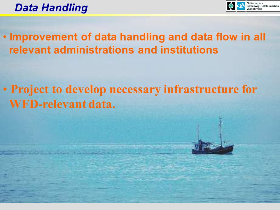 Project to develop necessary infrastructure for WFD-relevant data.
