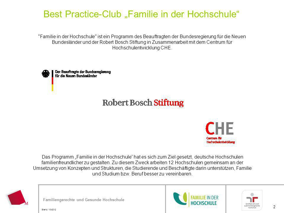 """Best Practice-Club """"Familie in der Hochschule"""
