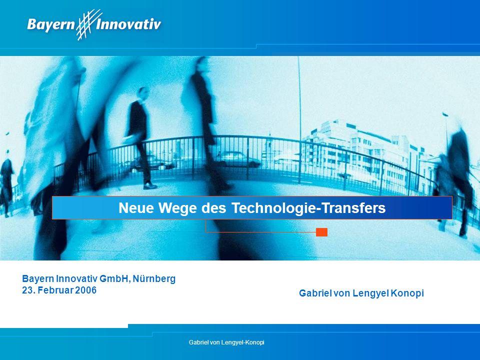 Neue Wege des Technologie-Transfers