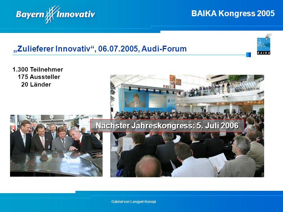 Nächster Jahreskongress: 5. Juli 2006