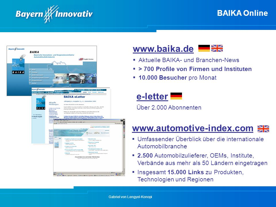 www.baika.de e-letter www.automotive-index.com BAIKA Online