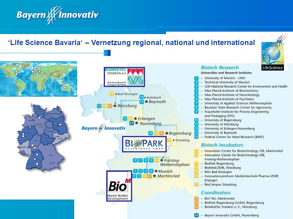 'Life Science Bavaria' – Vernetzung regional, national und international