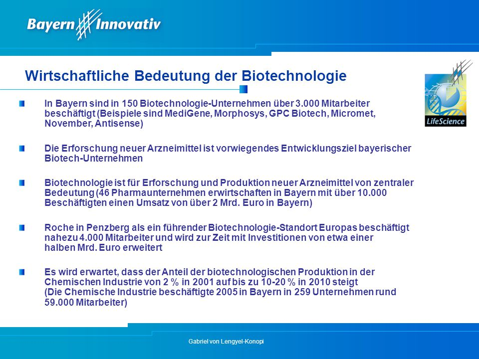 Wirtschaftliche Bedeutung der Biotechnologie