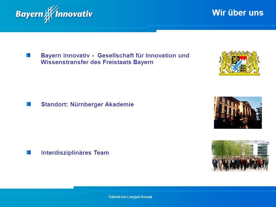 Wir über uns Bayern Innovativ - Gesellschaft für Innovation und Wissenstransfer des Freistaats Bayern.