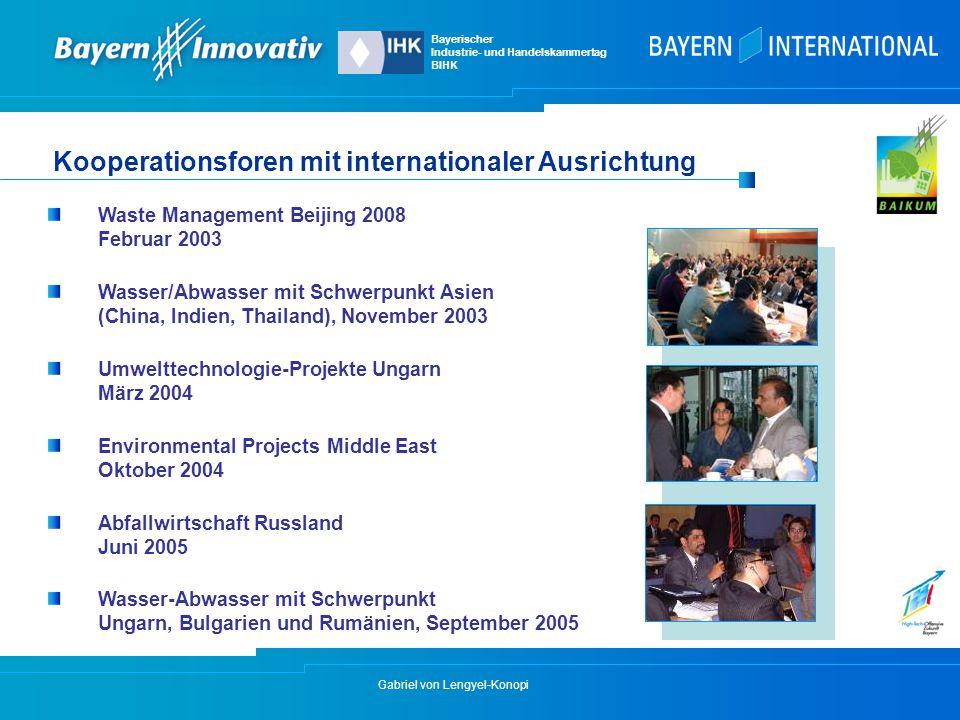 Kooperationsforen mit internationaler Ausrichtung