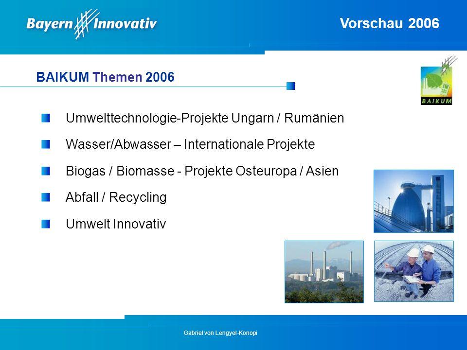 Vorschau 2006 BAIKUM Themen 2006