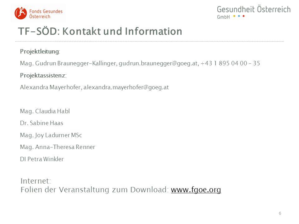 TF-SÖD: Kontakt und Information