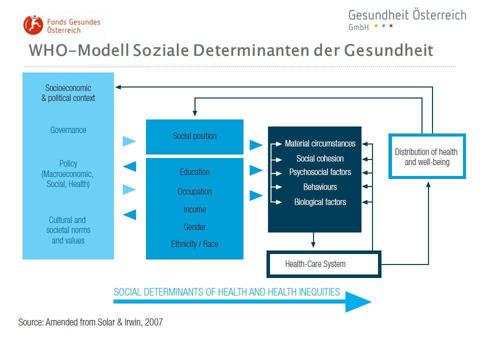 WHO-Modell Soziale Determinanten der Gesundheit