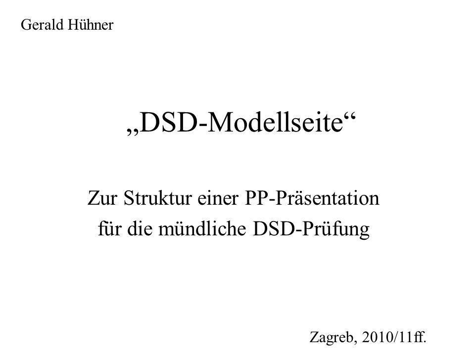 Zur Struktur einer PP-Präsentation für die mündliche DSD-Prüfung