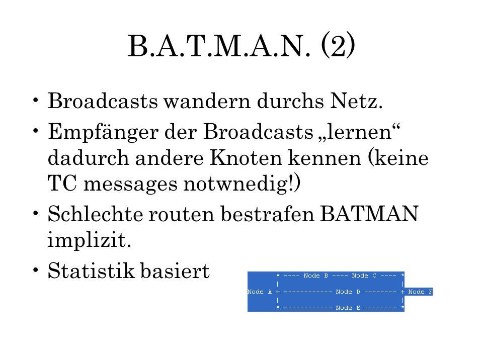 B.A.T.M.A.N. (2) Broadcasts wandern durchs Netz.