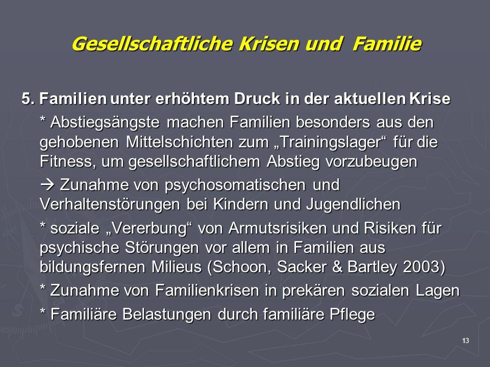Gesellschaftliche Krisen und Familie