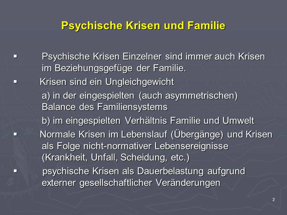Psychische Krisen und Familie