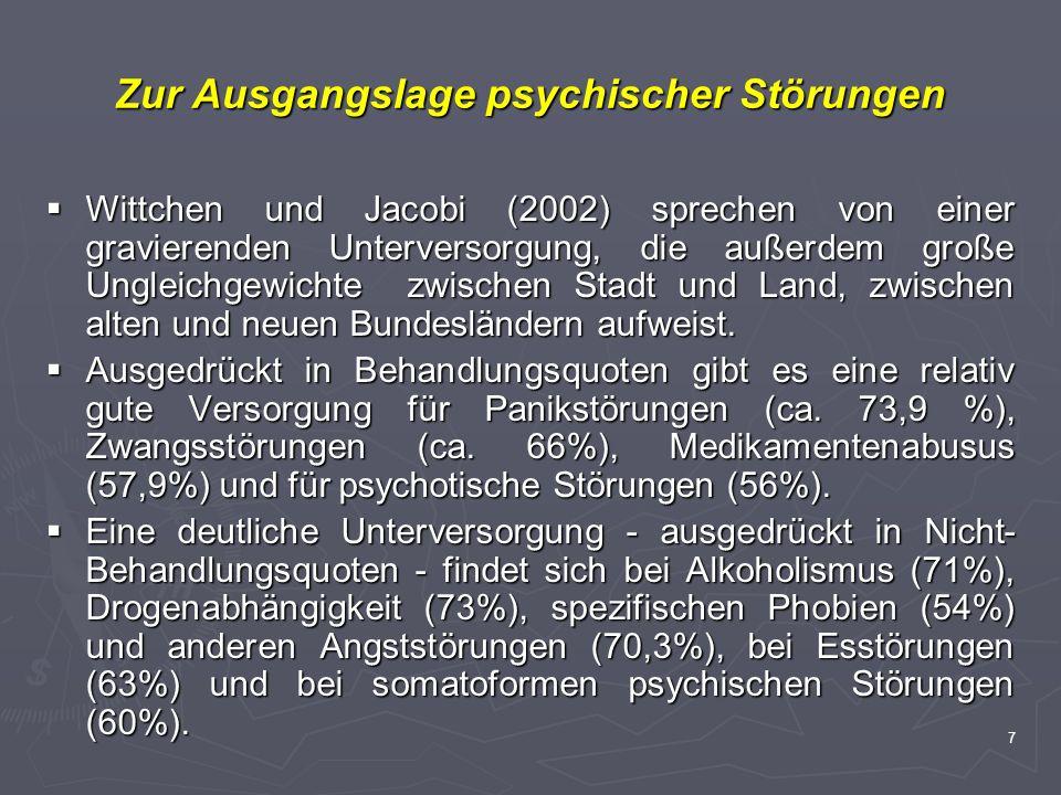 Zur Ausgangslage psychischer Störungen