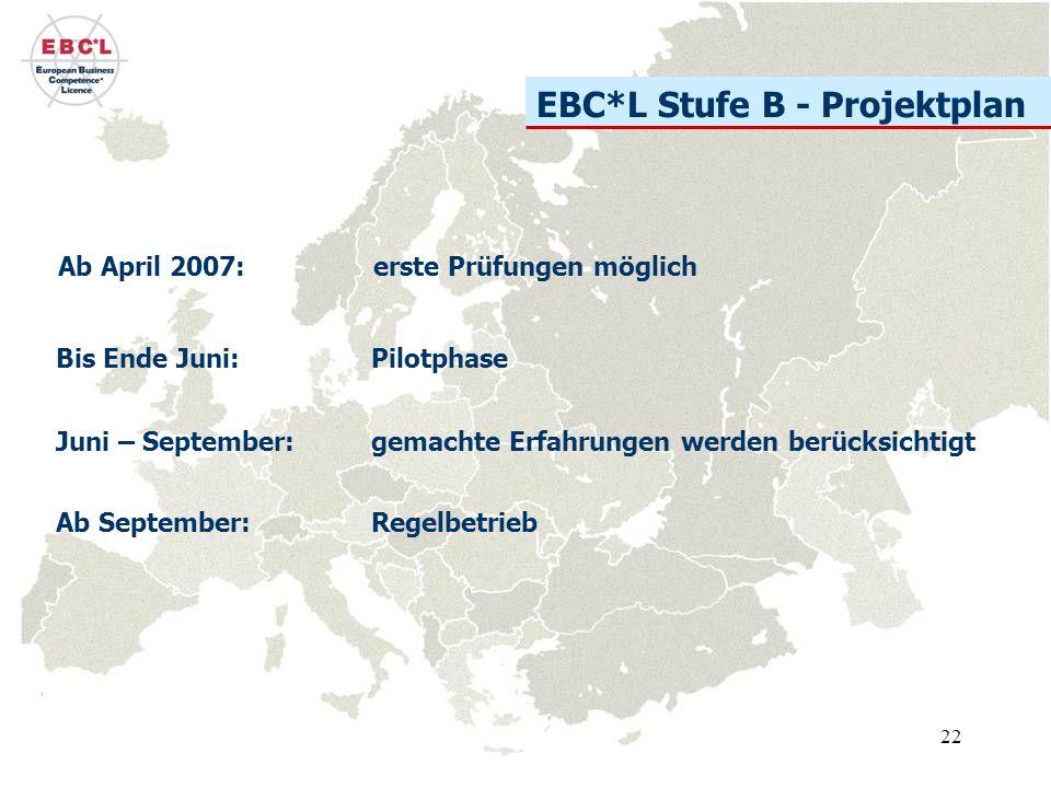 EBC*L Stufe B - Projektplan