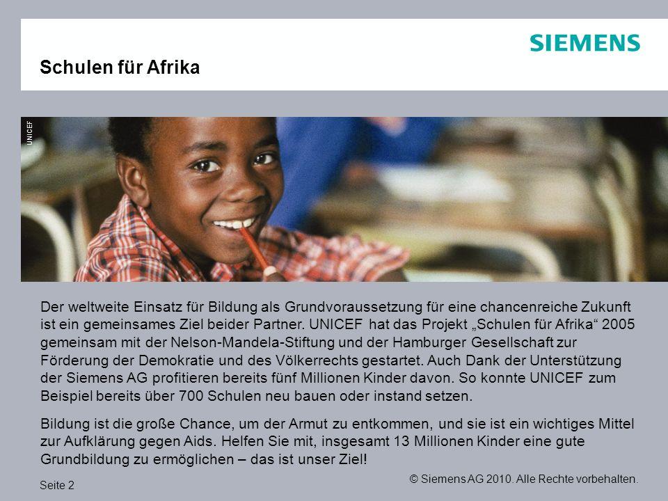 Schulen für Afrika UNICEF.
