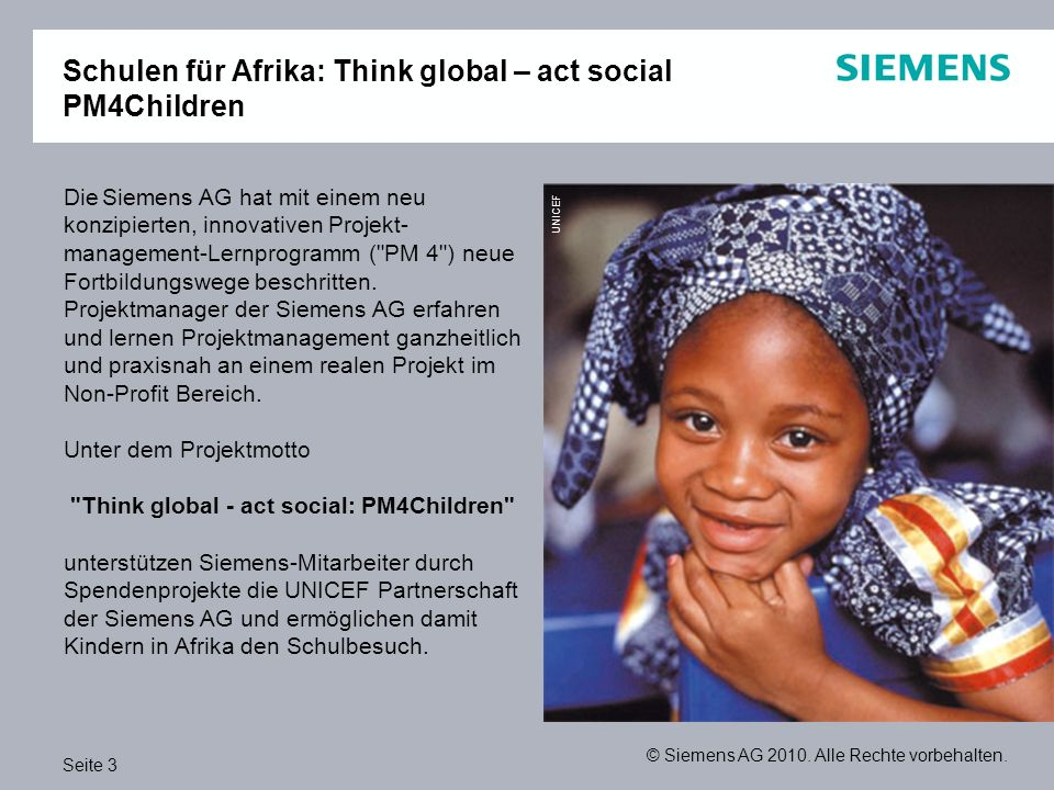 Schulen für Afrika: Think global – act social PM4Children
