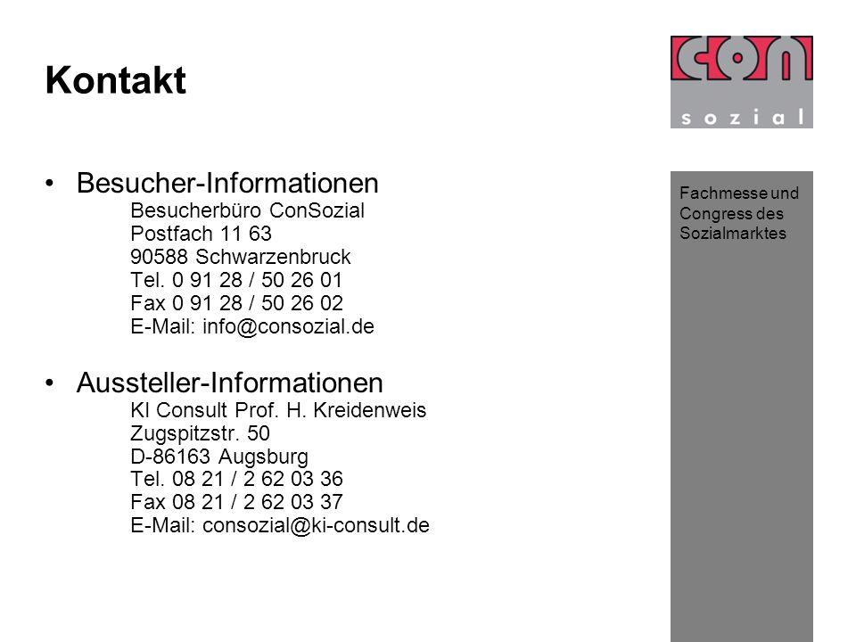 Kontakt Besucher-Informationen Aussteller-Informationen