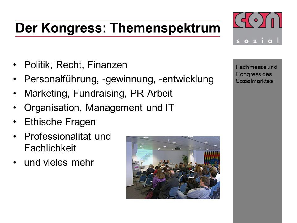 Der Kongress: Themenspektrum