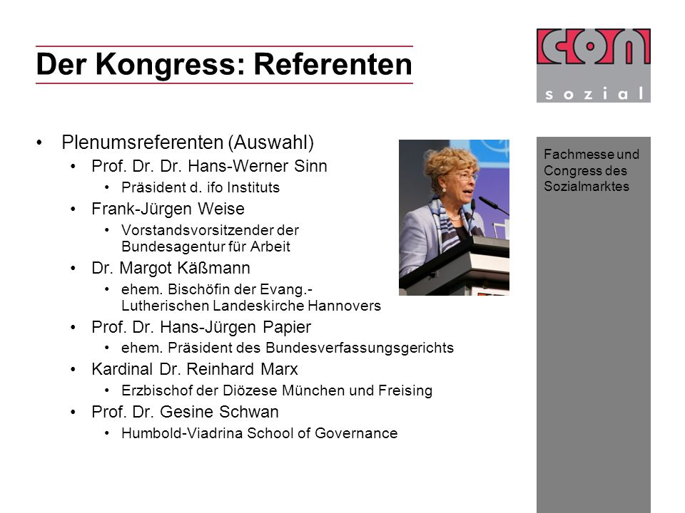 Der Kongress: Referenten