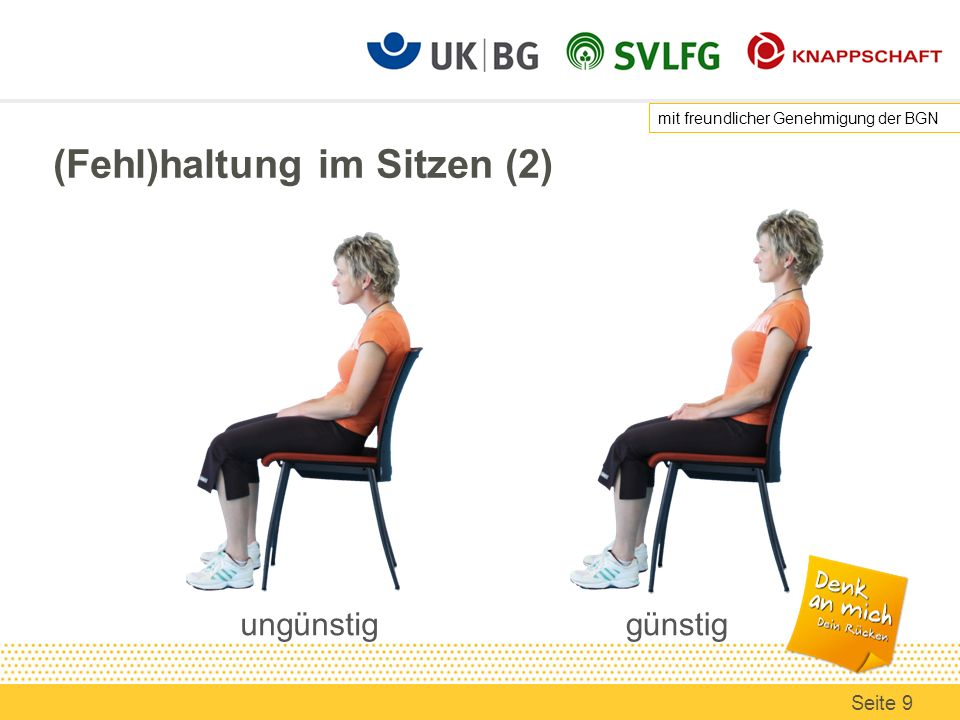 (Fehl)haltung im Sitzen (2)