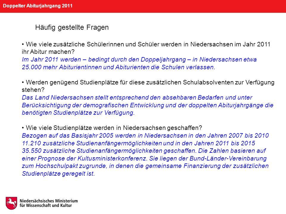 Doppelter Abiturjahrgang 2011