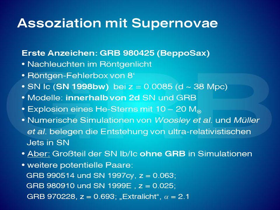 Assoziation mit Supernovae