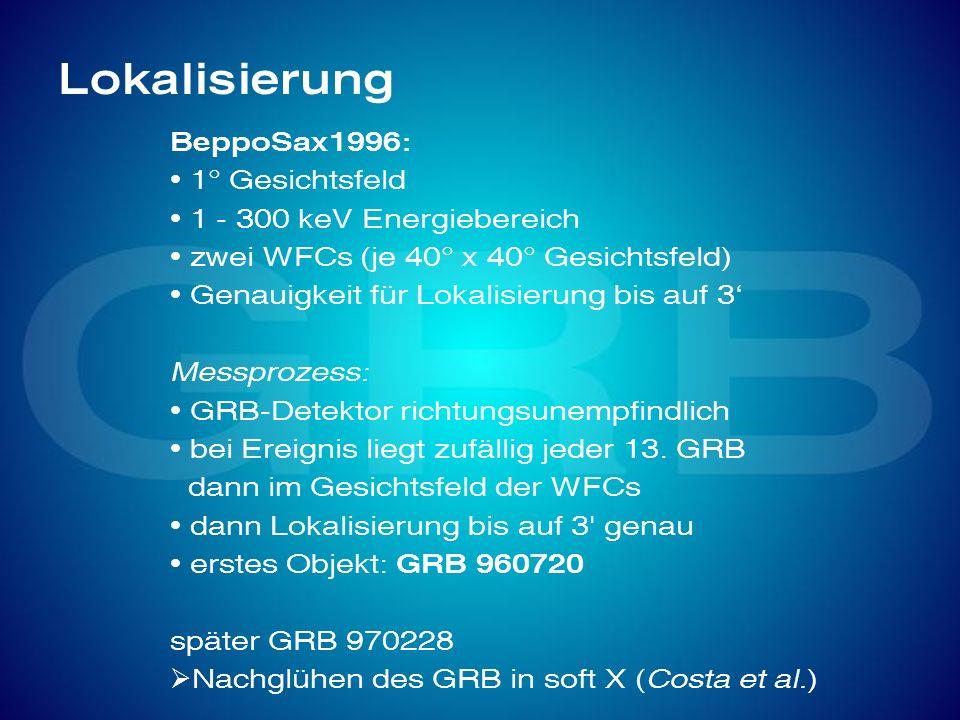 Lokalisierung BeppoSax1996: 1° Gesichtsfeld 1 - 300 keV Energiebereich