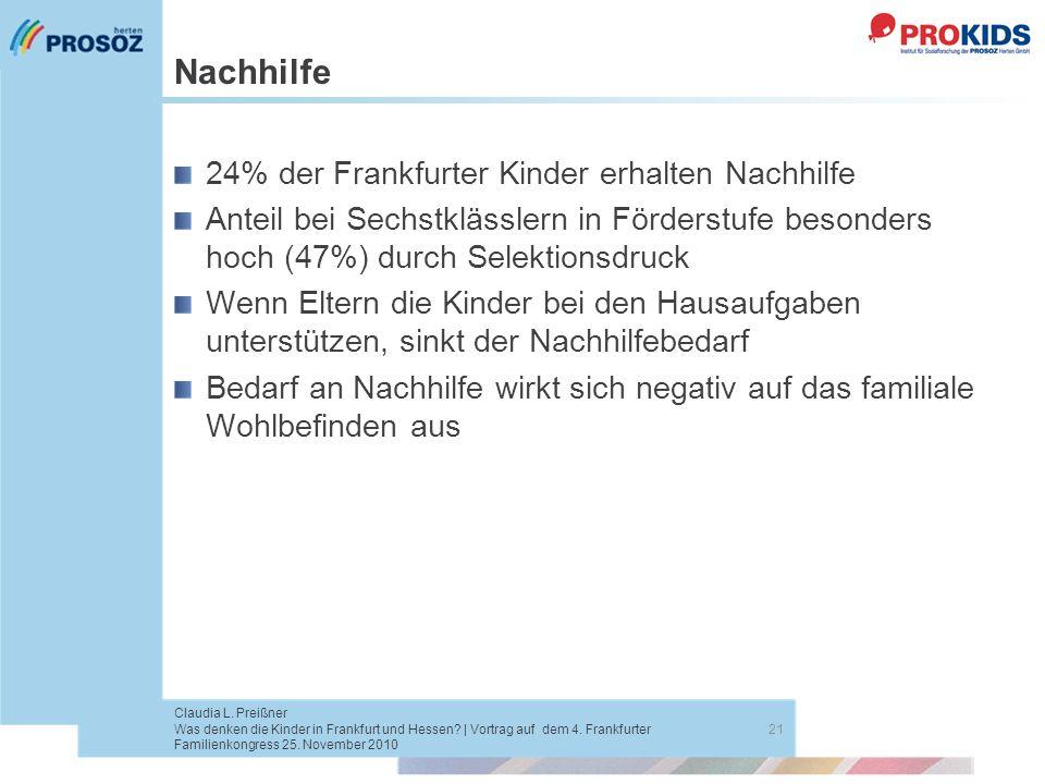 Nachhilfe 24% der Frankfurter Kinder erhalten Nachhilfe