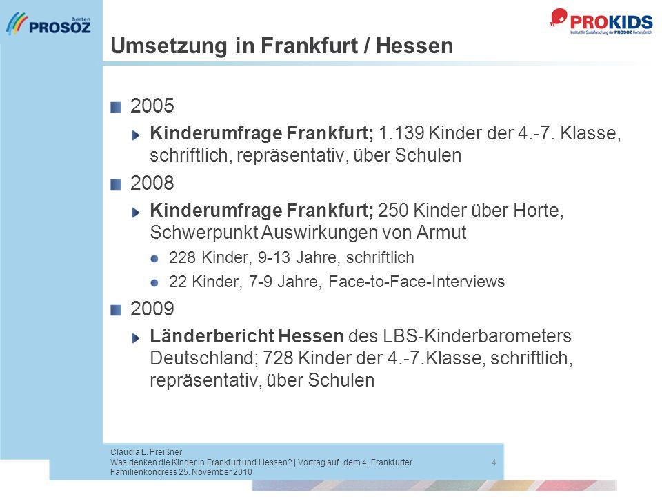Umsetzung in Frankfurt / Hessen