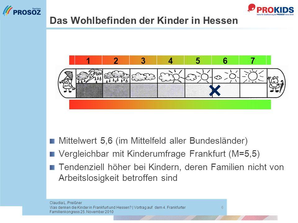 Das Wohlbefinden der Kinder in Hessen