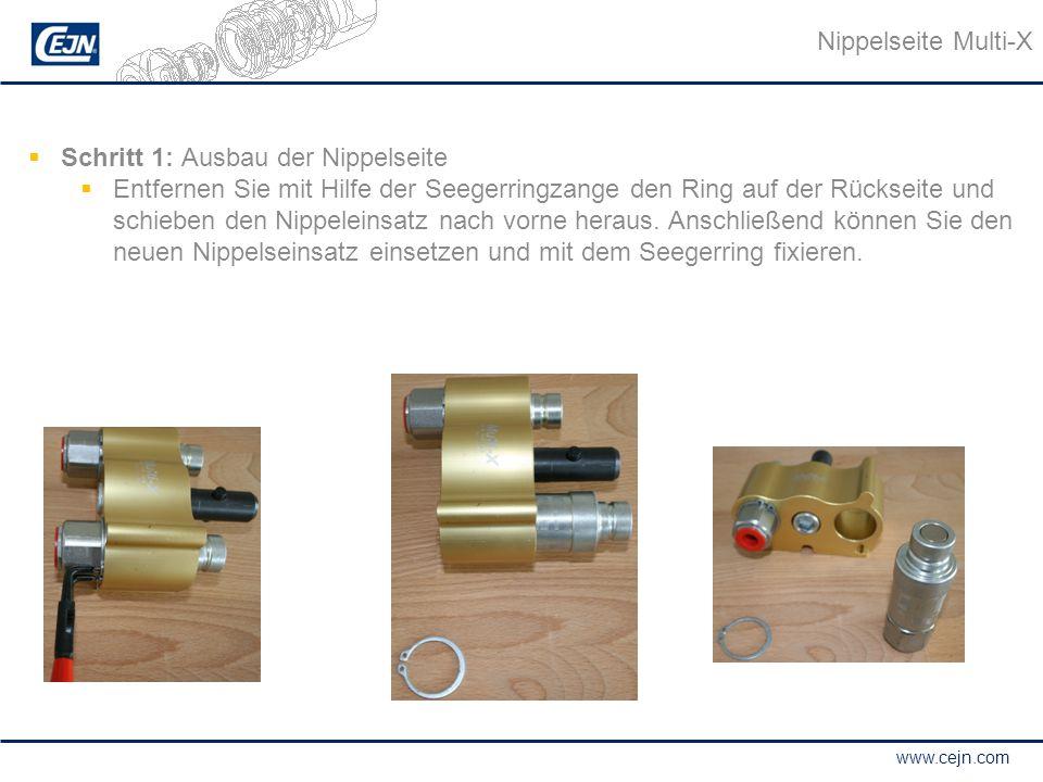 Nippelseite Multi-X Schritt 1: Ausbau der Nippelseite.
