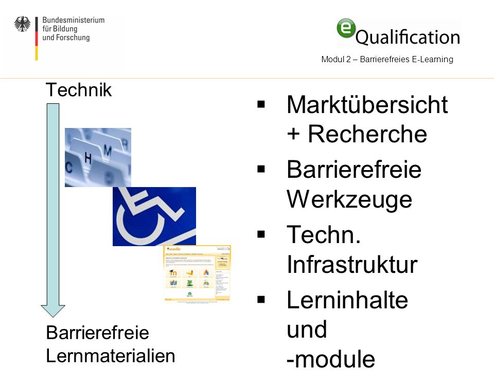 Modul 2 – Barrierefreies E-Learning