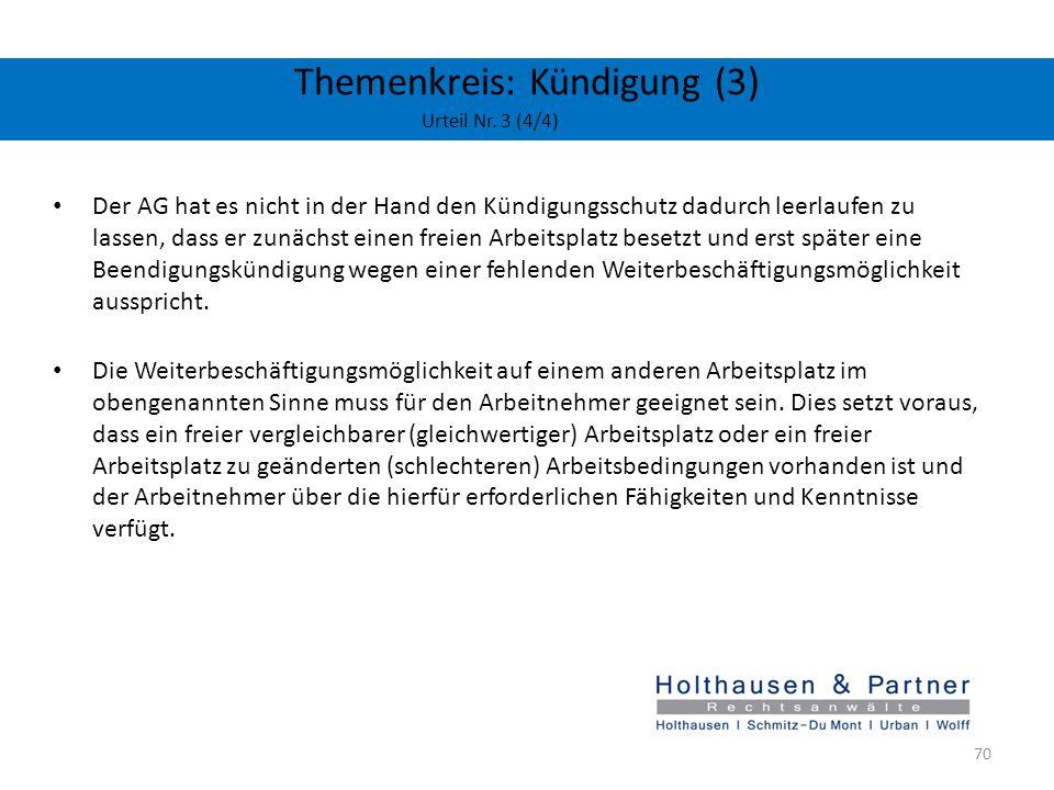 Themenkreis: Kündigung (3) Urteil Nr. 3 (4/4)