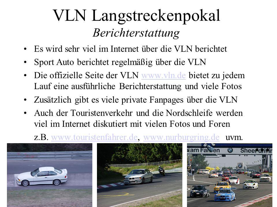 VLN Langstreckenpokal Berichterstattung
