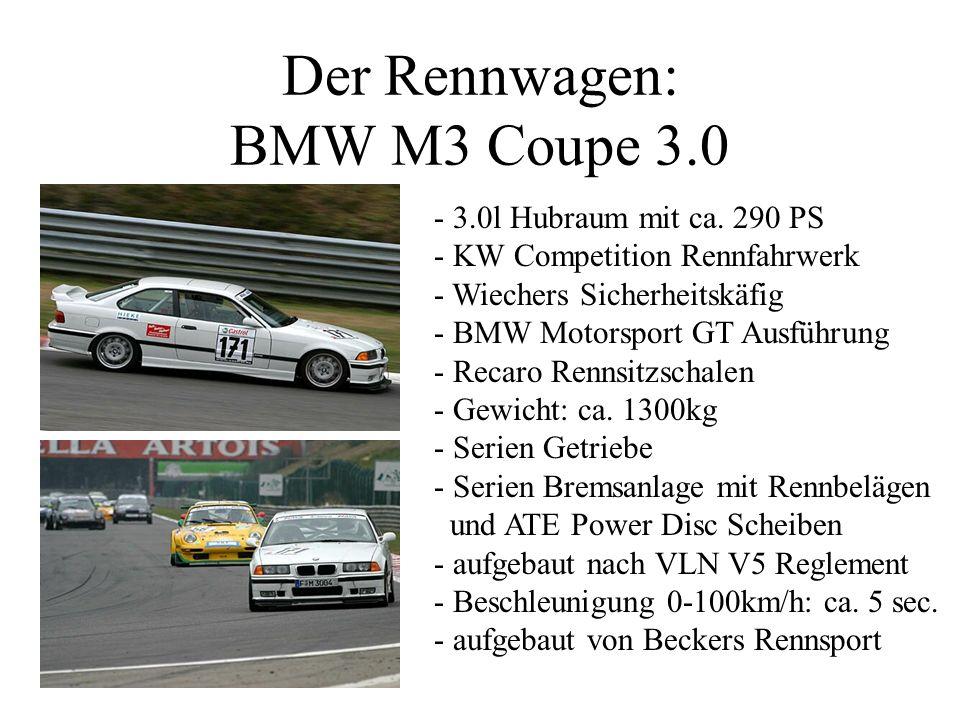 Der Rennwagen: BMW M3 Coupe 3.0