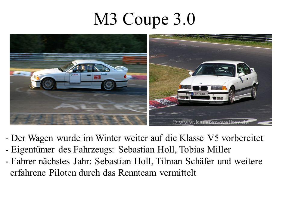 M3 Coupe 3.0 - Der Wagen wurde im Winter weiter auf die Klasse V5 vorbereitet. - Eigentümer des Fahrzeugs: Sebastian Holl, Tobias Miller.