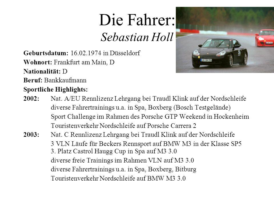 Die Fahrer: Sebastian Holl