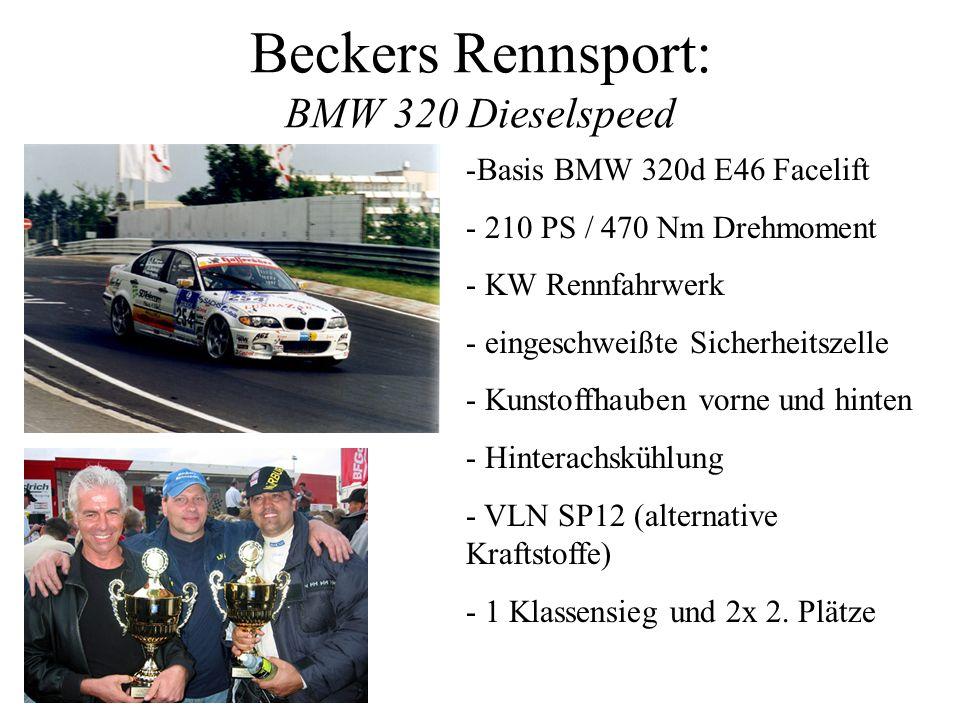 Beckers Rennsport: BMW 320 Dieselspeed