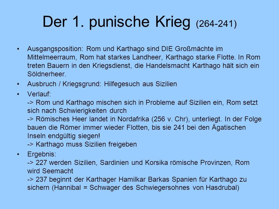 Der 1. punische Krieg (264-241)