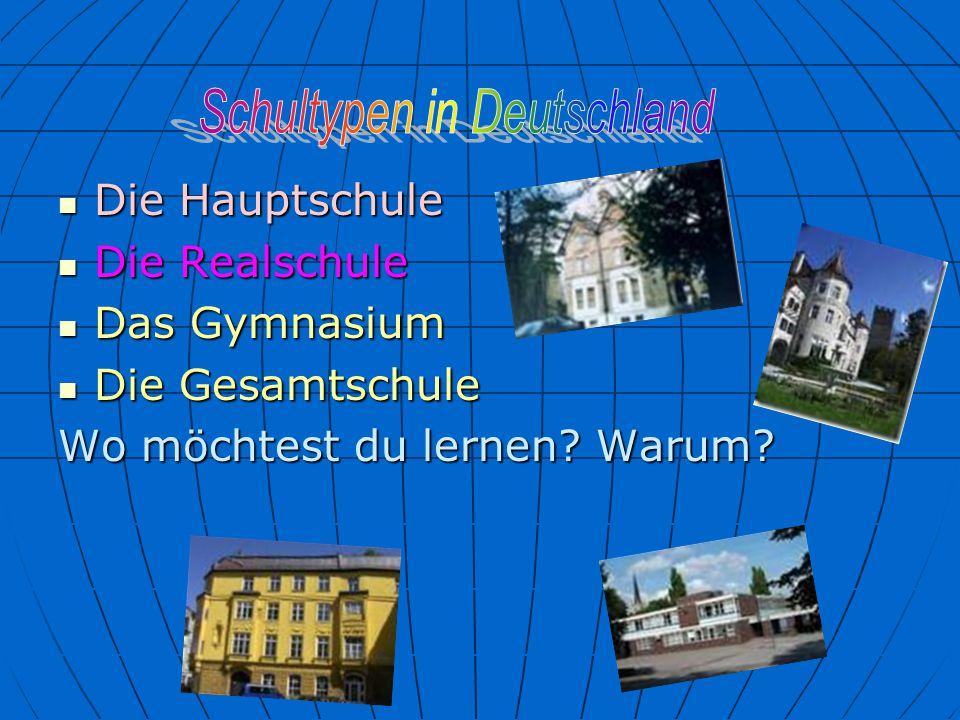 Schultypen in Deutschland