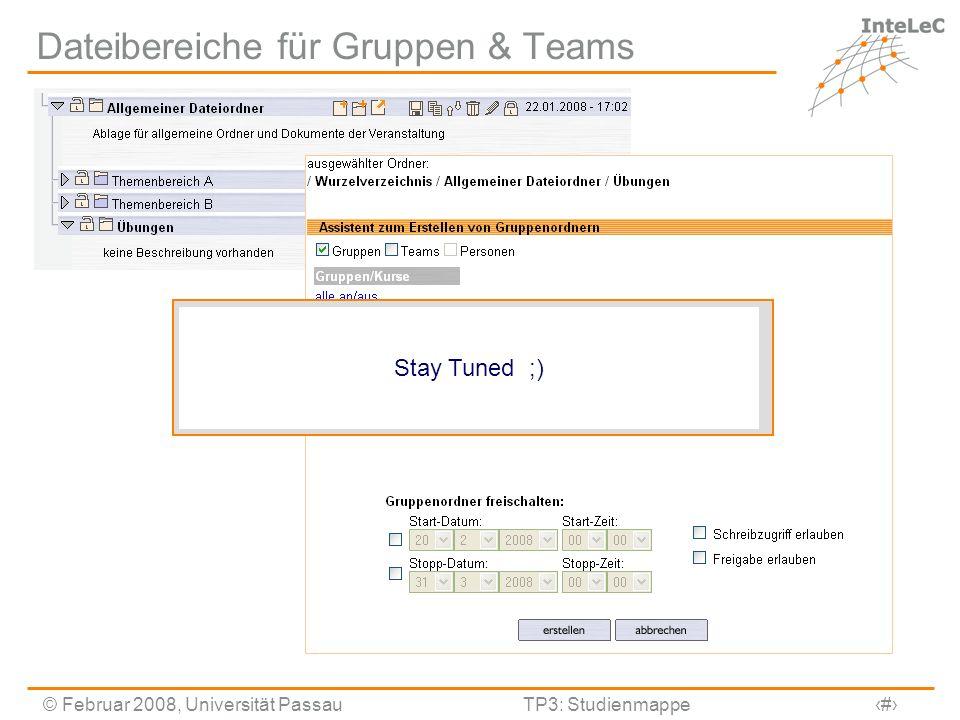 Dateibereiche für Gruppen & Teams