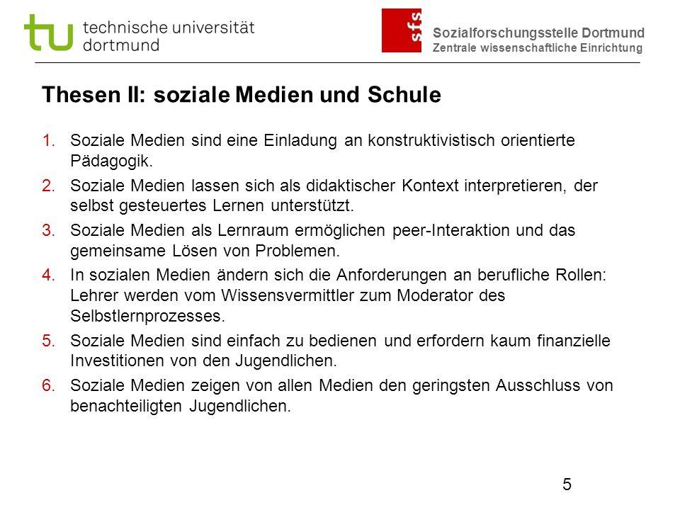 Thesen II: soziale Medien und Schule