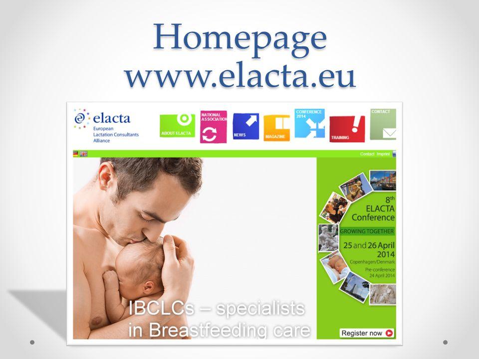 Homepage www.elacta.eu