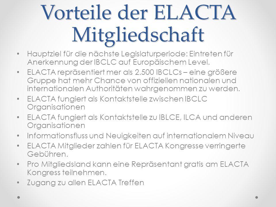 Vorteile der ELACTA Mitgliedschaft