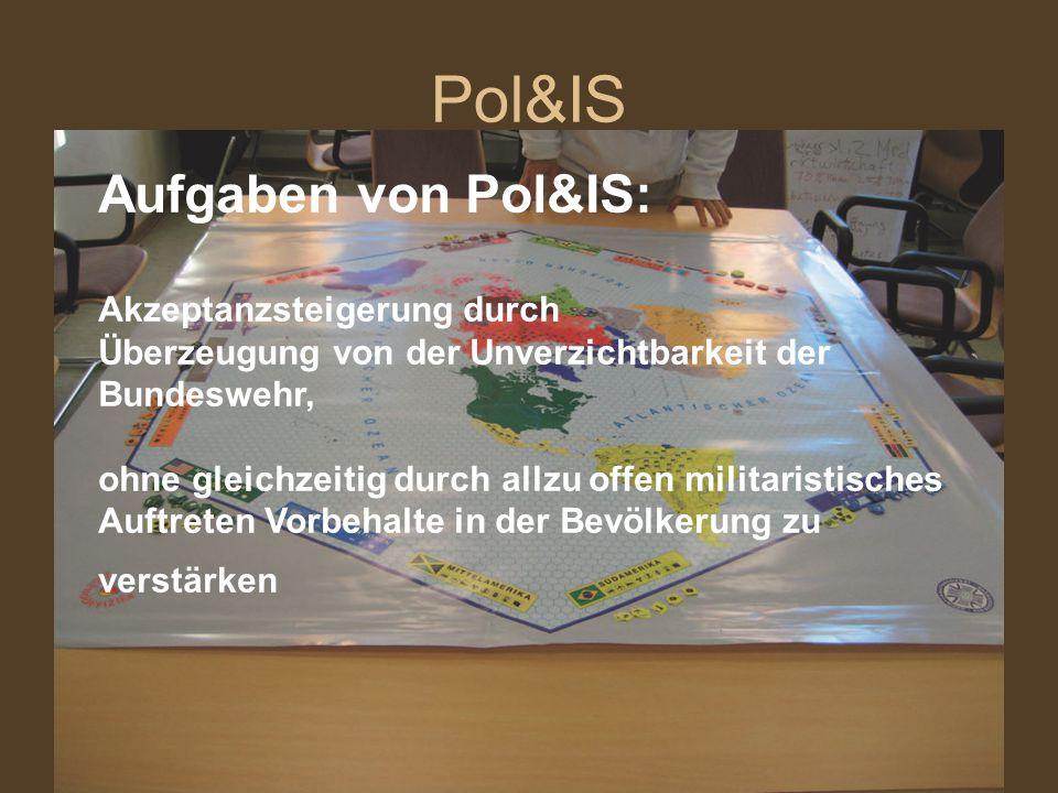 Pol&IS Aufgaben von Pol&IS: Akzeptanzsteigerung durch