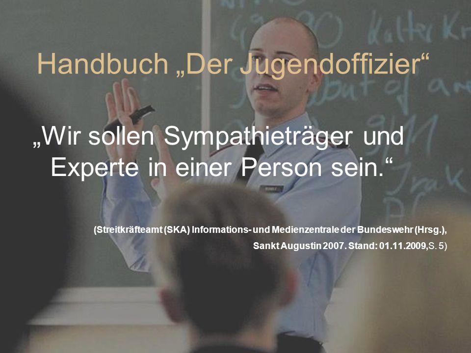 """Handbuch """"Der Jugendoffizier"""